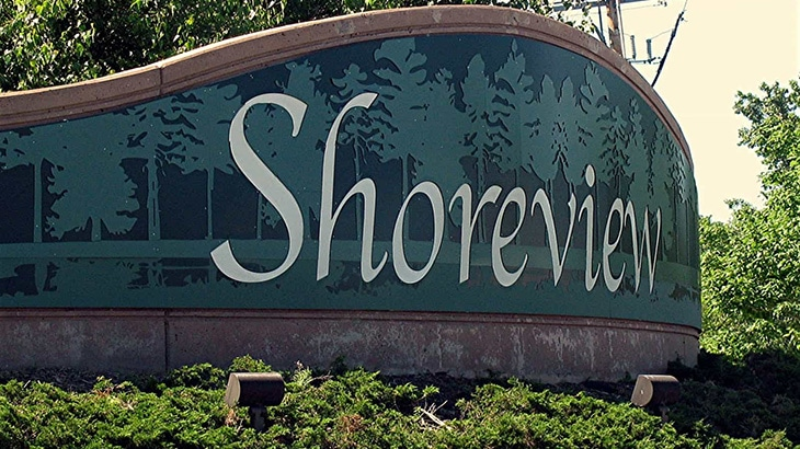 Shoreview sign